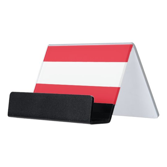 Card Holder with flag of Austria