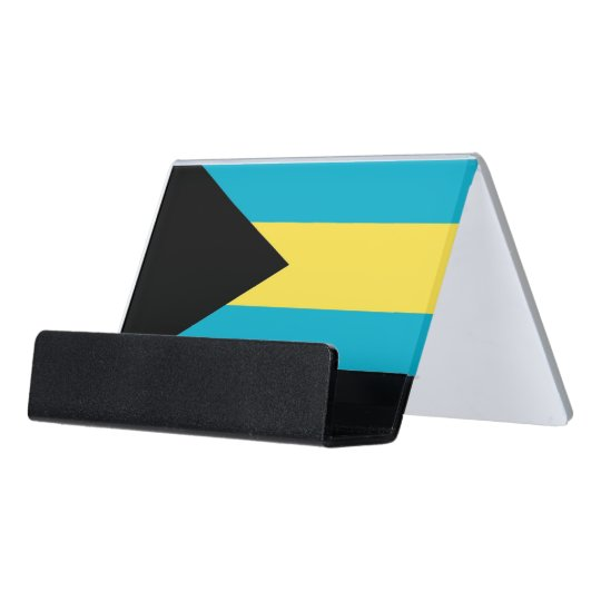 Card Holder with flag of Bahamas