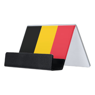 Card Holder with flag of Belgium