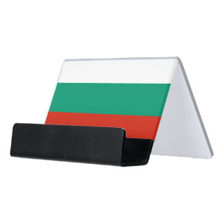 Card Holder with flag of Bulgaria