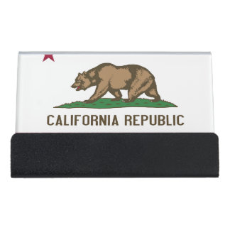Card Holder with flag of California State, USA