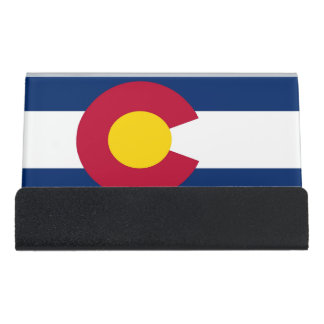 Card Holder with flag of Colorado State, USA