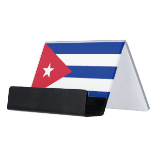 Card Holder with flag of Cuba