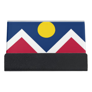 Card Holder with flag of Denver City, USA