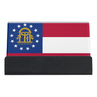 Card Holder with flag of Georgia State, USA