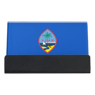 Card Holder with flag of Guam, USA