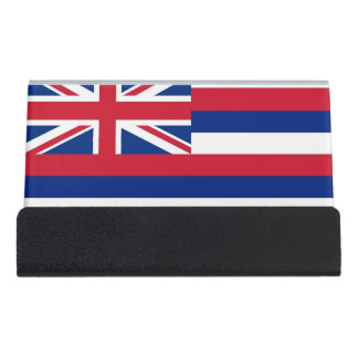 Card Holder with flag of Hawaii State, USA