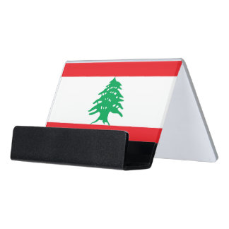 Card Holder with flag of Lebanon