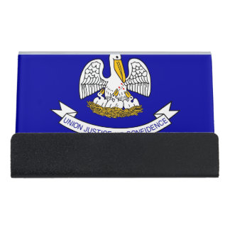 Card Holder with flag of Louisiana State, USA