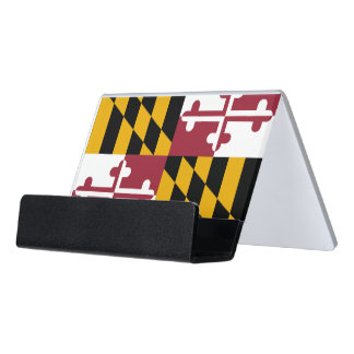 Card Holder with flag of Maryland State, USA