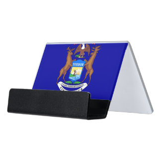 Card Holder with flag of Michigan State, USA