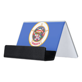 Card Holder with flag of Minnesota State, USA
