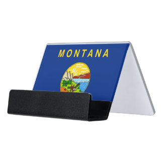 Card Holder with flag of Montana State, USA