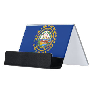 Card Holder with flag of New Hampshire State, USA