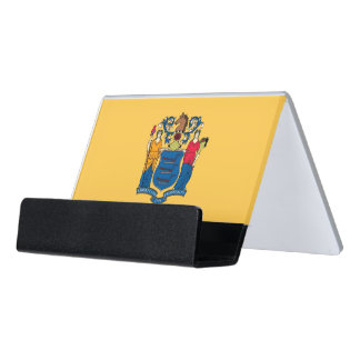 Card Holder with flag of New Jersey State, USA