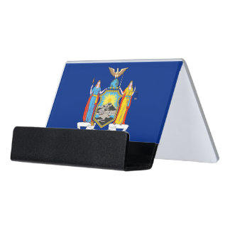 Card Holder with flag of New York State, USA