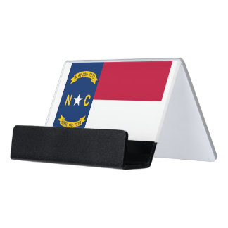 Card Holder with flag of North Carolina State, USA
