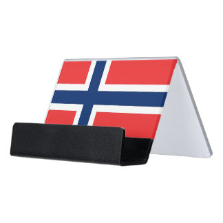 Card Holder with flag of Norway