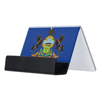 Card Holder with flag of Pennsylvania State, USA