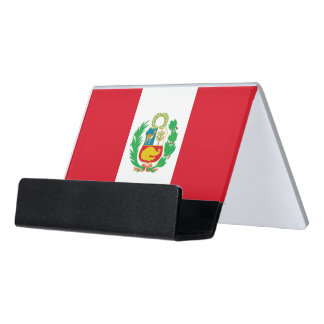 Card Holder with flag of Peru