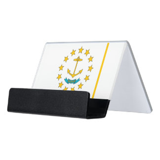 Card Holder with flag of Rhode Island, USA