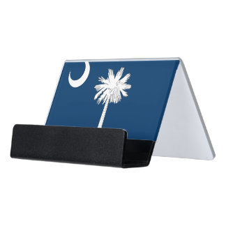 Card Holder with flag of South Carolina, USA