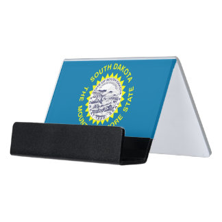 Card Holder with flag of South Dakota, USA