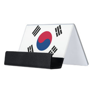 Card Holder with flag of South Korea