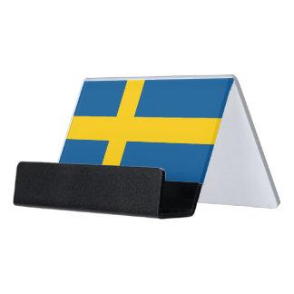Card Holder with flag of Sweden