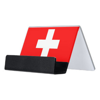 Card Holder with flag of Switzerland
