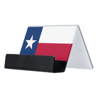 Card Holder with flag of Texas State, USA