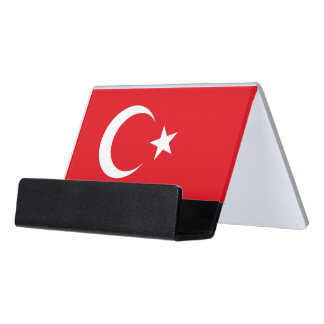 Card Holder with flag of Turkey
