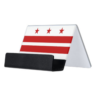 Card Holder with flag of Washington DC, USA