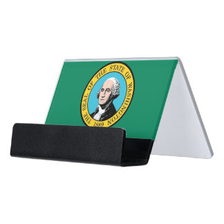 Card Holder with flag of Washington State, USA