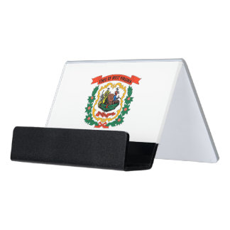 Card Holder with flag of West Virginia State, USA
