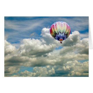 Card - Hot air balloon in flight