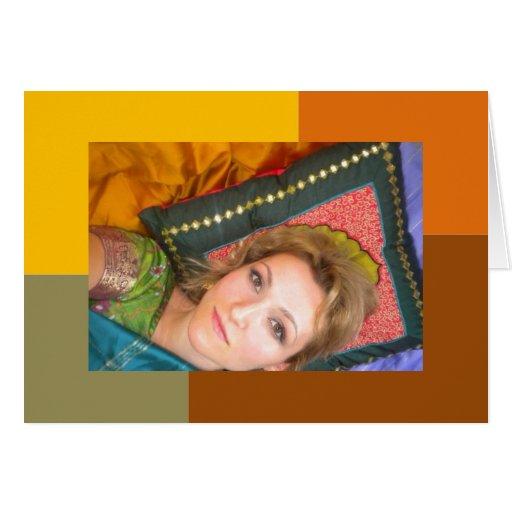 card indian girl arab style