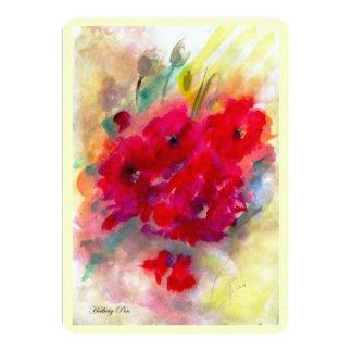 "Card (invitation) ""Red Giselle"" 13 Cm X 18 Cm Invitation Card"