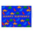 Card Kid's Boy's Happy Birthday Dinosaurs