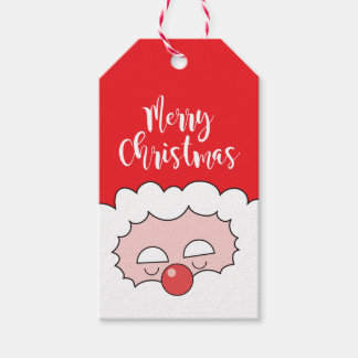 Card Labels for Gift Merry Christmas Santa