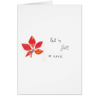 Card: Let's fall in Love Card