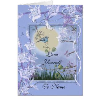 Card Love Yourself Blue Bird