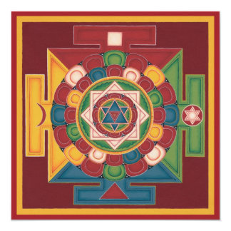 CARD Mandala of the 5 Elements, square+envelope