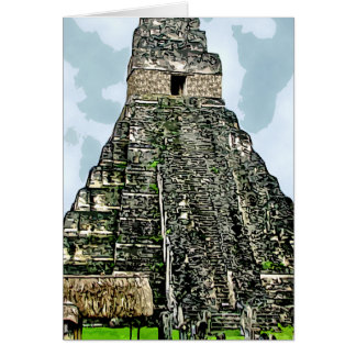 Card: Mayan Temple at Tikal, Guatemala Card