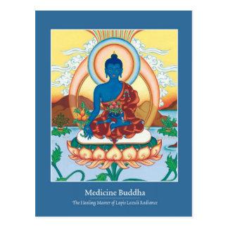 CARD Medicine Buddha - with beautiful back Postcard