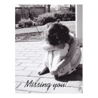 Card - Missing you... Postcard