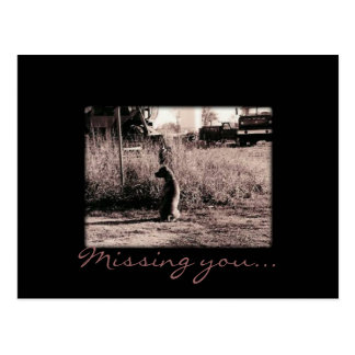 Card - Missing you Postcard