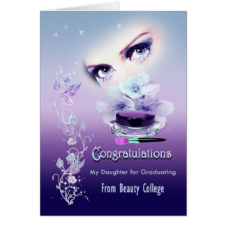 Card occasion, graduating from beauty school