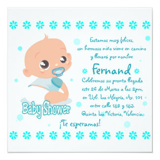 Card of Baby Shower (Young) 13 Cm X 13 Cm Square Invitation Card