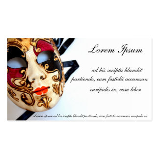 Card of store or celebration of disguises pack of standard business cards